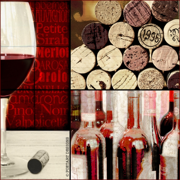 red wine, cork, selection