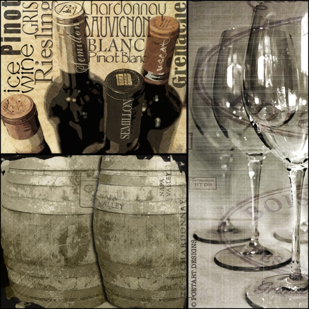 wine, glass, wine barrel