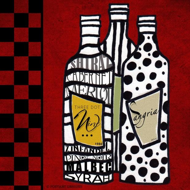 Funky Wine, fun, draw, wine