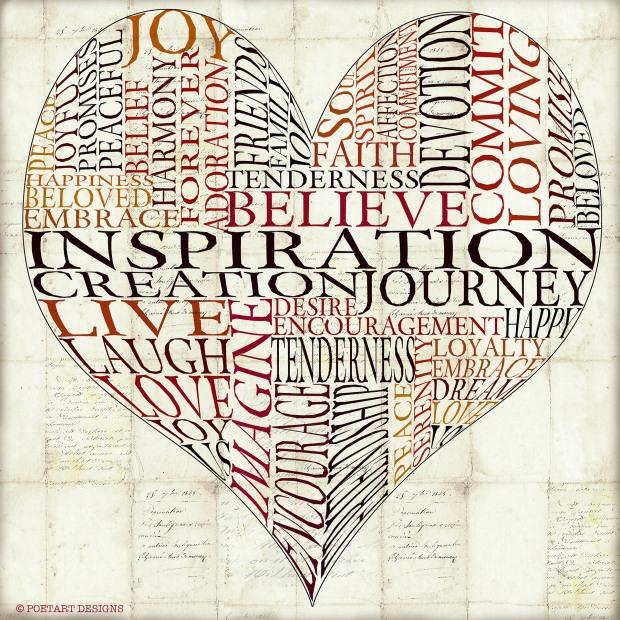heart, love, inspire