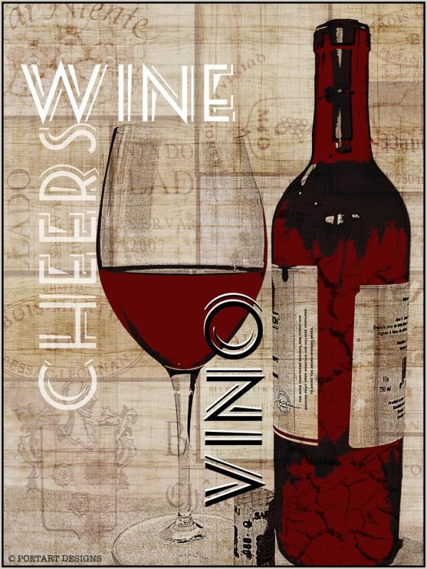 wine, crate, cheers, vino