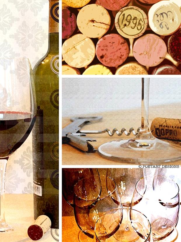 wine, glasses, cork, bottle